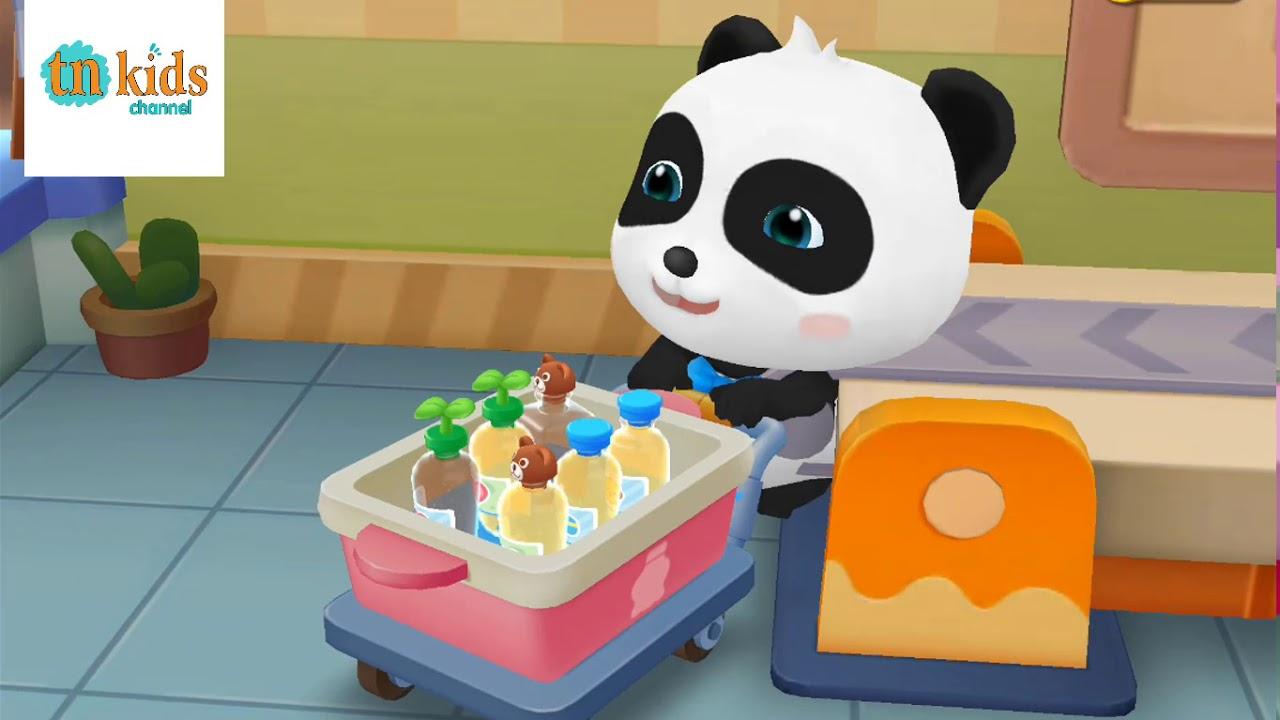 Gấu trúc PANDA học chế biến trà sữa – Trò chơi game vui giúp bé yêu thông  minh trên TN kids channel - YouTube