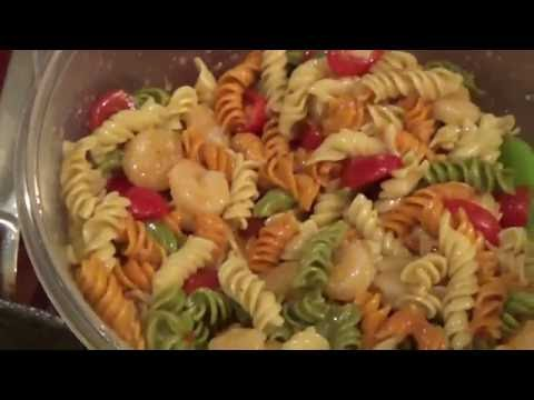 HOW I MAKE PASTA SALAD WITH SHRIMP/ MEMORIAL DAY COOKATHON!