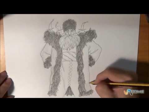 Babbo Natale Delle 5 Leggende.Impara A Disegnare Babbo Natale Nella Versione Delle 5 Leggende