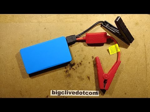 Shorting out a fully charged cheap lithium jump starter.(It didn&#39t end well.)