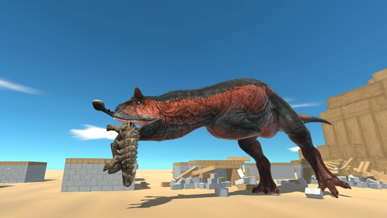 Titan CARNOTAURUS in Village vs ALL UNITS Animal Revolt Battle Simulator