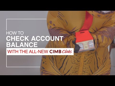 Check Account Balance with the All-New CIMB Clicks - YouTube
