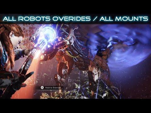 Horizon Zero Dawn All Robots Overrides / All Mounts SHOWCASE