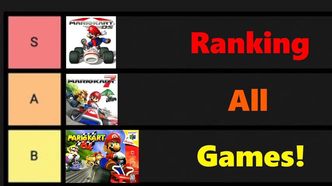 Ranking All Mario Kart Games In A Tierlist Youtube