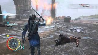 Shadow of Mordor combat gamplay (bright lord skin)