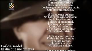 Carlos Gardel - El día que me quieras (Letra-Lyrics)
