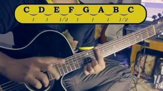 belajar gitar 2a memahami jarak antar nada senam jari