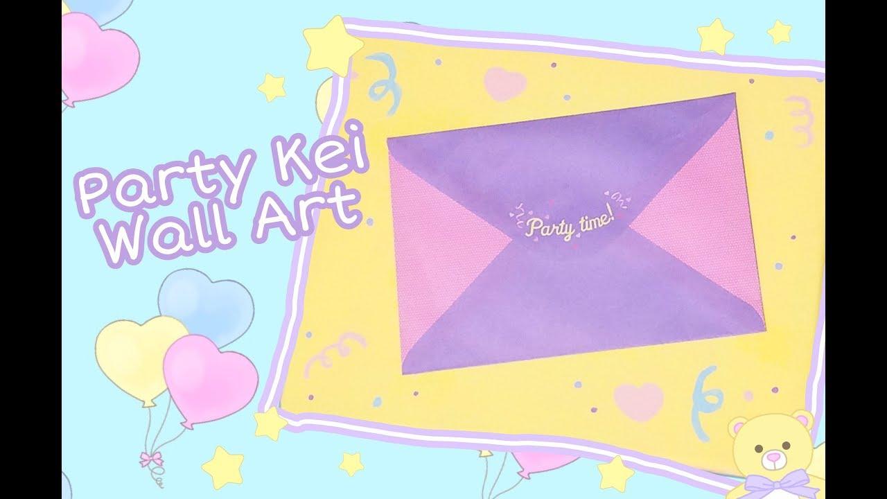 Party Kei Pastel Cute Wall Art Painting Speedpaint! - YouTube