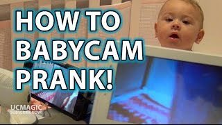 how to prank your wife baby monitor camera trick