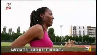 Fiona May e G'Dello. Record del mondo nell'atletica leggera (08/05/2012)