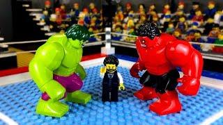 Халк против Красного Халка 🥊 LEGO Мультик Мстители