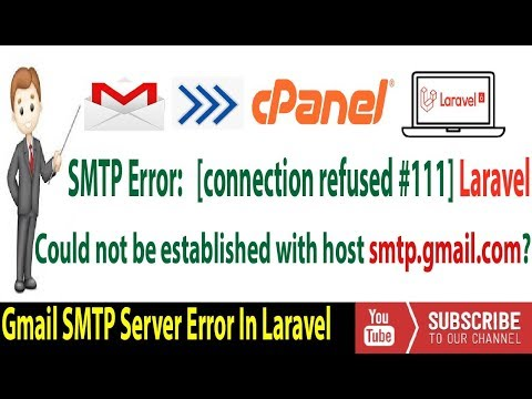 How To Fix Connection Could Not Be Established With Host Smtp.gmail.com✔️