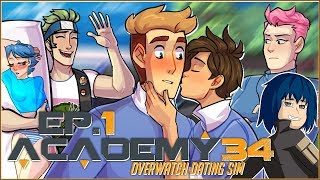 Gambar cover Academy34: Overwatch Dating Sim | Ep.1 - Tracer's Kiss