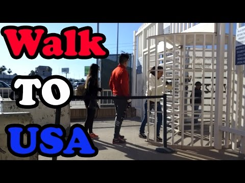 How to Walk into the United States from Mexico