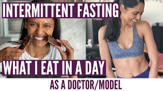 What I eat in a day while Intermittent FASTING: Keeping healthy and fat loss by a DOCTORMODEL!