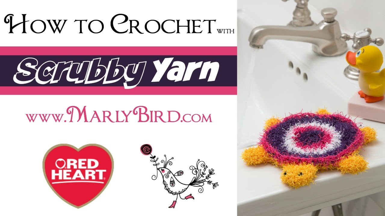 How to Crochet with Scrubby Yarn - YouTube