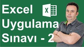 Excel Uygulama Sınavı 2. Soru - 289.video   Ömer BAĞCI