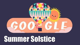 Summer solstice, google doodle showing first day of solstice june 21.google today marks the beginning season in northern hemisphe...