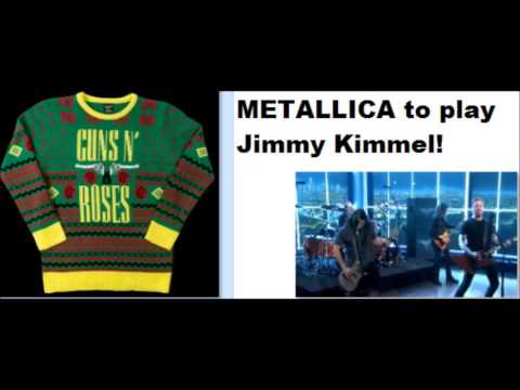 Metallica To Play Jimmy Kimmel Guns N Roses Ugly Christmas