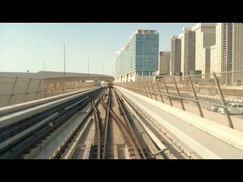 Dubai metro 2016 - red line - driver's view - UAE Exchange to Danube