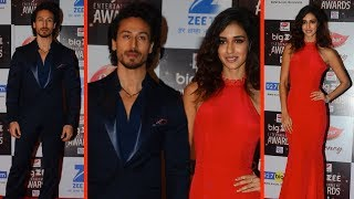 Tiger Shroff With GIRLFRIEND Disha Patani At Big Zee Entertainment Awards 2017 Red Carpet