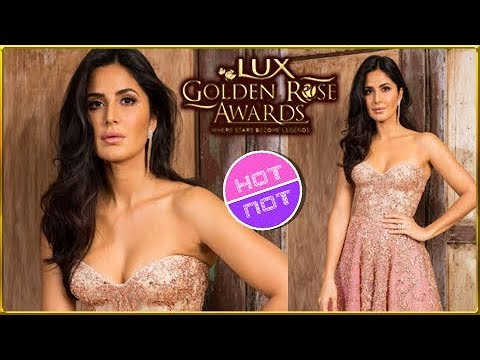 Katrina Kaif Hot Cleavage Revealing Gown At Lux Golden Rose Awards 2017