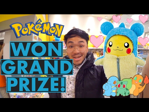 POKEMON CENTER IN JAPAN - WON GRAND PRIZE LOTERRY!