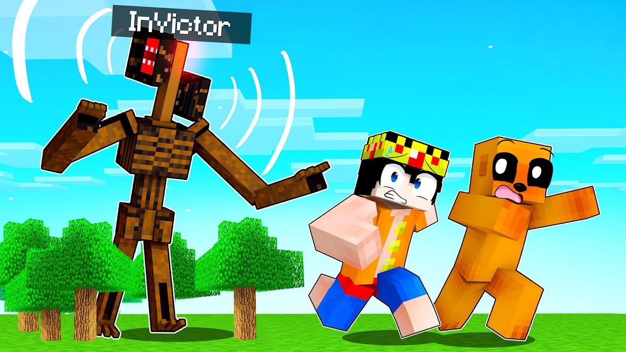 Me CONVIERTO en SIREN HEAD en Minecraft 😂 ESCONDITE con LOS COMPAS