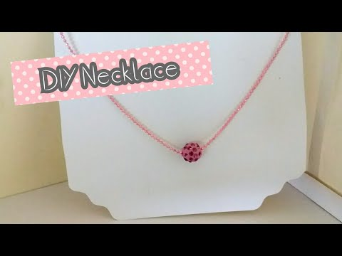 DIY Necklace pendant / How to Make Easy Handmade chain pendant/Necklace choker