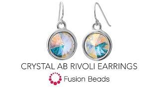 Sehen Sie, wie einfach es ist, diese Crystal AB Rivoli Ohrringe von Fusion Beads