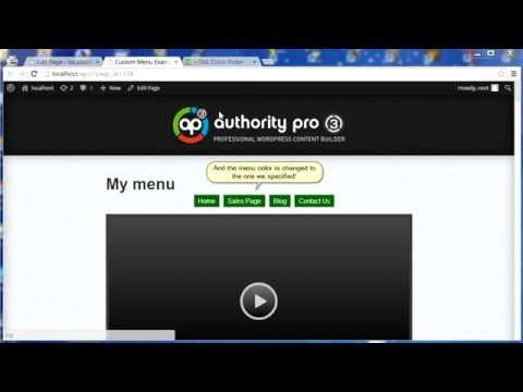 Authority Pro 3 | How To Change Custom Menu Color
