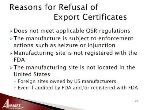 Guidance - FDA Regulations for Importing and Exporting Medical Devices