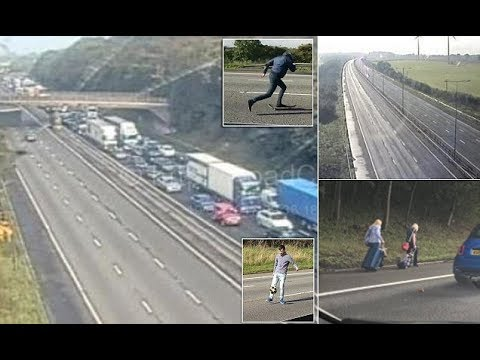 Police close M1 both directions causing five-mile queues