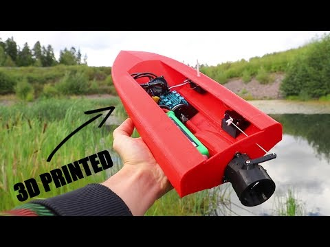 3D Printed RC Boat with JET PROPULSION