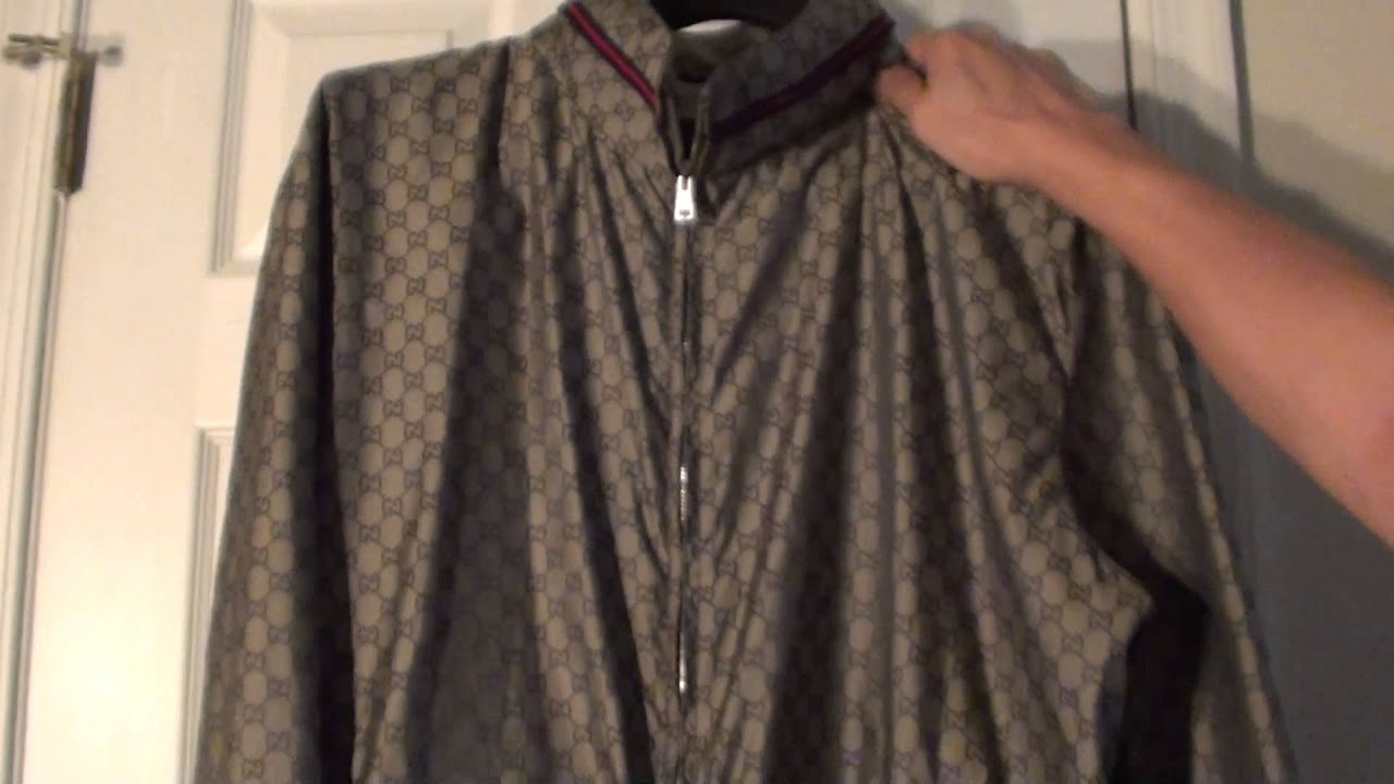 06b28a90b Gucci Kayway GG Logos Lightweight Jacket Overview Authentic - YouTube