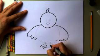 Drawing:  How to Draw a Baby Chick for Easter!