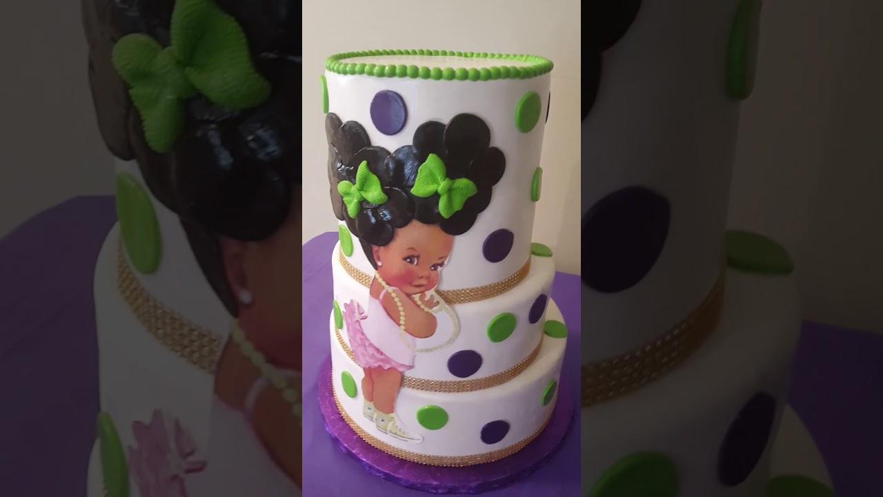 Afro Baby Cake