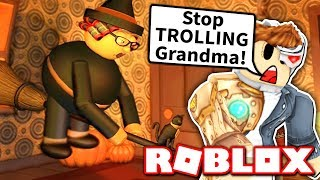 We wanted to ESCAPE from Grandma's Obby... but instead we got TROLLED?! (Roblox)