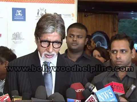 Amitabh Bachchan At Premier Of Film 'Fearless Nadia'
