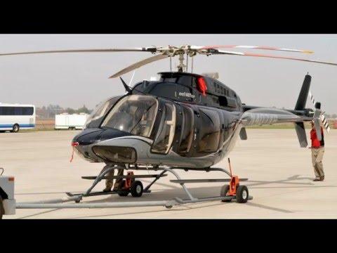 Bell 407 GXP N407XP despegando en FIDAE 2016 03-04-2016