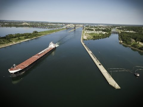 Shipping on the Great Lakes...  A Bird's Eye View