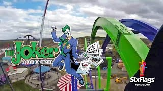 The Joker Roller Coaster POV Six Flags New England New for 2017 #RollerCoaster