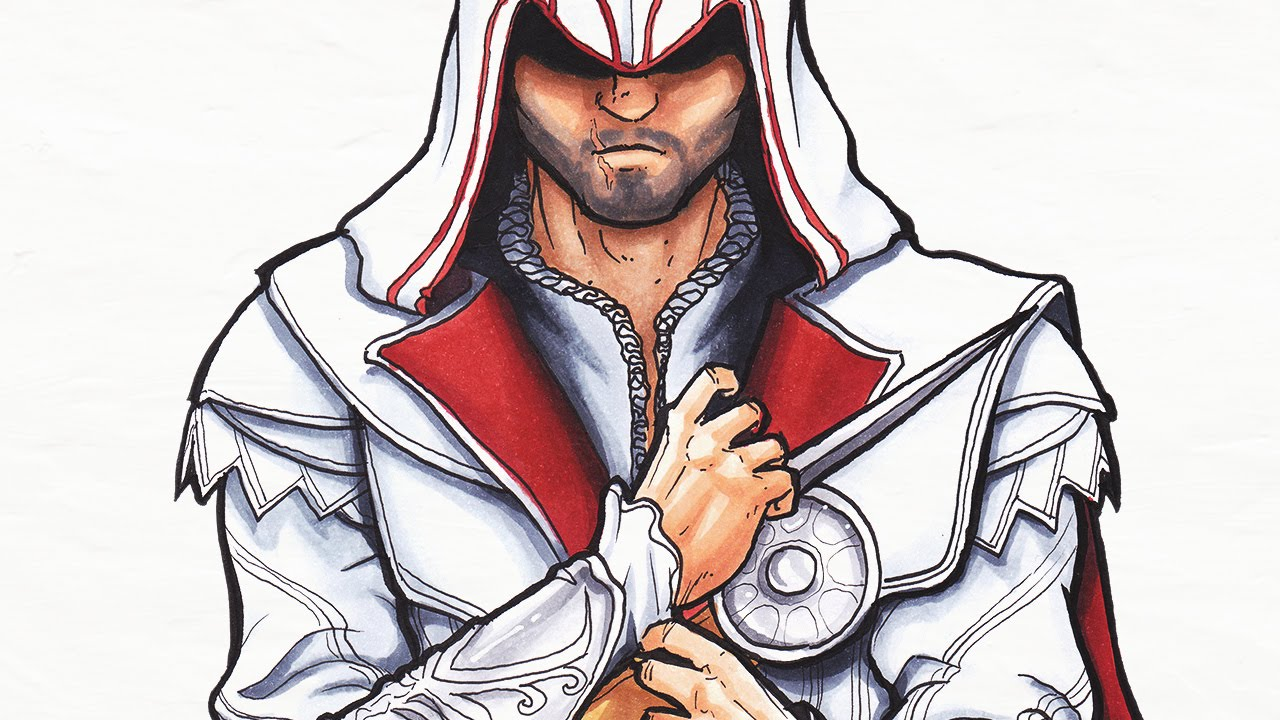 Ezio - Assassins Creed - Speed Drawing - YouTube