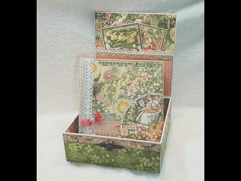 Altered cigarbox  GARDEN GODDESS graphic 45 mini album