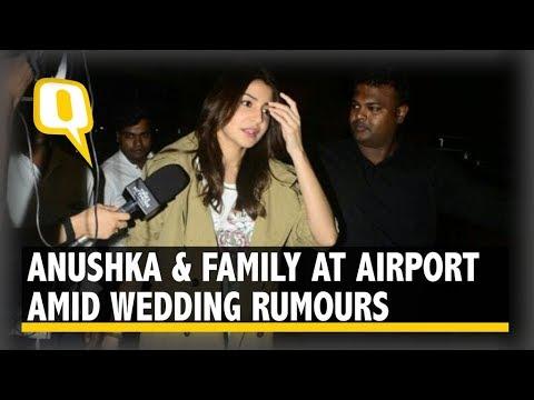 Anushka & Family Seen at Mumbai Airport Amid Wedding Rumours | The Quint