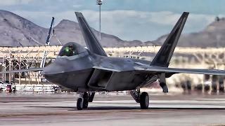 F-22 Raptors At Air Combat Exercise Red Flag 17-1