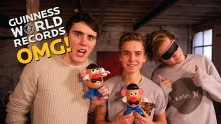 Caspar Lee & Joe Sugg - Who'll be Mr Potato Head? // The Record Slam (Ep30)