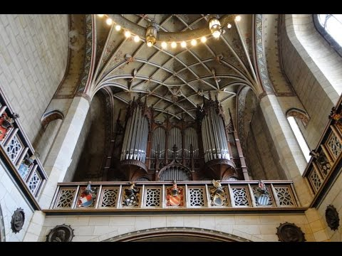 A Mighty Fortress played on pipe organ at historic Castle Church, Wittenberg