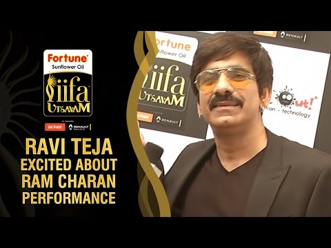 Ravi Teja Excited about Ram Charan's Live Dance Performance | IIFA Utsavam Awards 2016