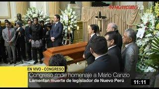 Congreso rinde homenaje póstumo a legislador Mario Canzio